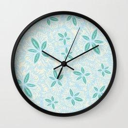 Sea Blue Lily Flower Wall Clock