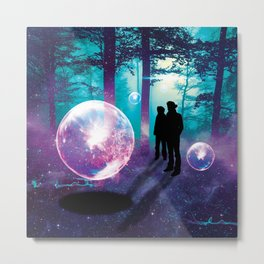 Forest Orbs Metal Print