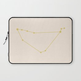 Capricorn Zodiac Constellation Golden Laptop Sleeve