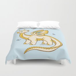 Golden Tipped Dragon Fly Duvet Cover