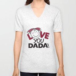 Love You Dada Unisex V-Neck