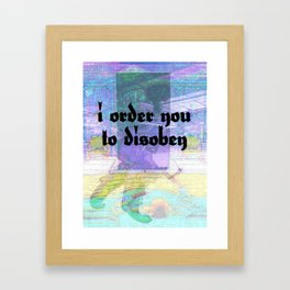 defeasibility study (after John Baldessari) Framed Art Print