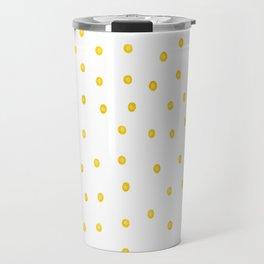 Yellow polka dots Travel Mug