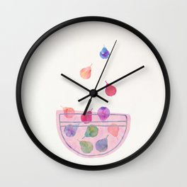 Magic Pears in the Bowl Wall Clock