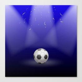 Celebration, Football in the spotlight Canvas Print