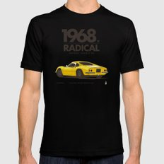 1968 MEDIUM Black Mens Fitted Tee