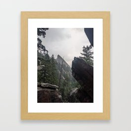 Flat Iron 1 During Rainstorm Framed Art Print