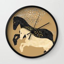 Free Horses Wall Clock