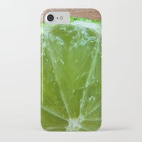 lime green iPhone & iPod Cases featuring Lime Green and Fresh by BluedarkArt