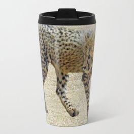 Baby cheetah learning to stalk Travel Mug