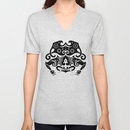 Borneo-Shirt .:sneering beast - BW Unisex V-Neck