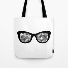 Diamond Eyes Black and White Tote Bag