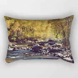 Eagle River in Avon Colorado Rectangular Pillow