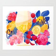 Gewurztraminer Wine Art Print