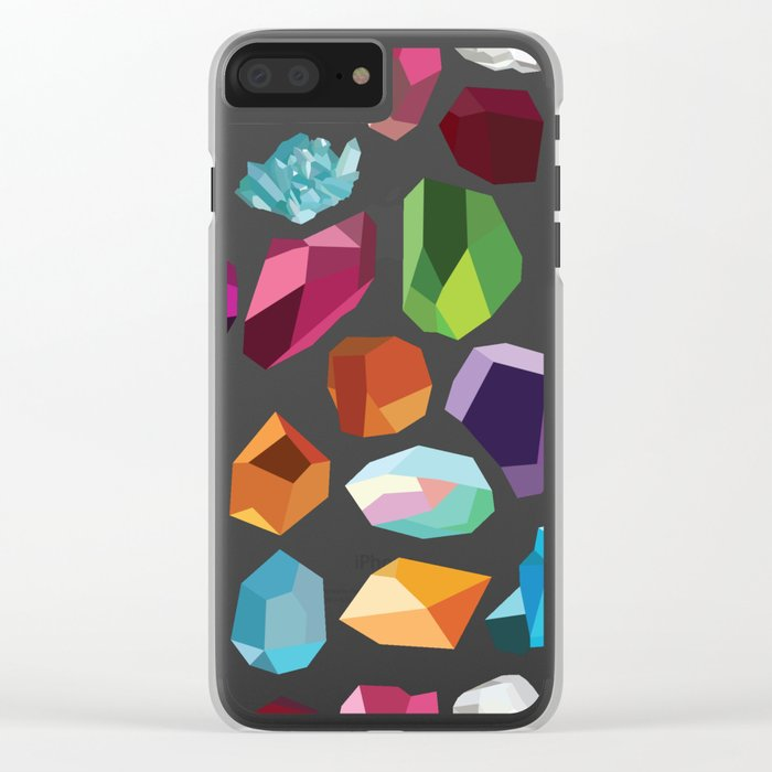 Gemstones Clear iPhone Case