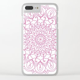 Sophie Mandala Pink Clear iPhone Case