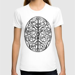 Antique Iron Gate with Face T-shirt