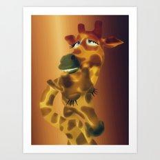 Giraffenpaar Art Print