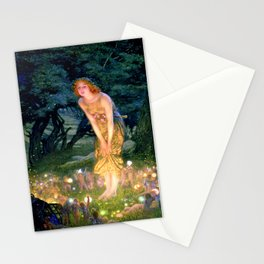 Fairy Painting Print - Midsummer Eve Neoclassical Art by Edward Robert Hughes Stationery Cards