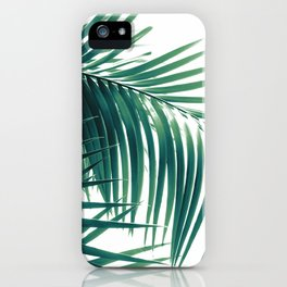 Palm Leaves Green Vibes #6 #tropical #decor #art #society6 iPhone Case