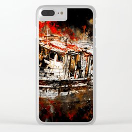 old ship boat wreck ws std Clear iPhone Case