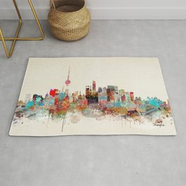shanghai city skyline Rug