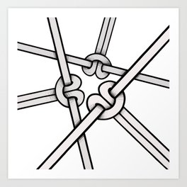 knots tied Art Print