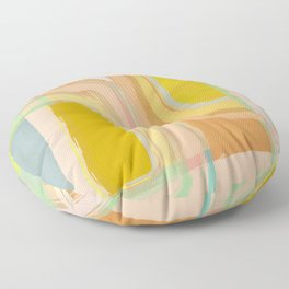 Shapes and Layers no.28 - Modern Squares and Stripes Floor Pillow