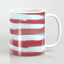 oh, America - naive acrylic painting in red, white and blue by Coffee Mug