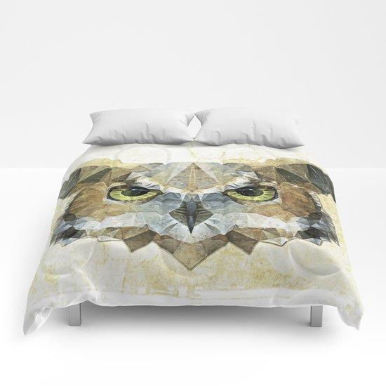 abstract owl Comforters