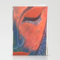 musa Stationery Cards featuring La Musa by Alme