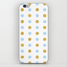 Dalmatian - Blue & Gold Foil #447 iPhone Skin