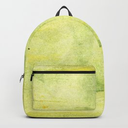 Yellow green watercolor Backpack
