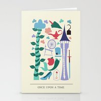 once upon a  time Stationery Cards featuring Once Upon a Time by Abbie Imagine