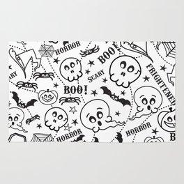 Cute horror halloween cartoon pattern Rug