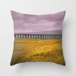 Ribblehead Viaduct Throw Pillow