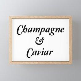 Champagne & Caviar Framed Mini Art Print