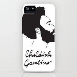 Childish Gambino - Minimalist profile portrait iPhone Case