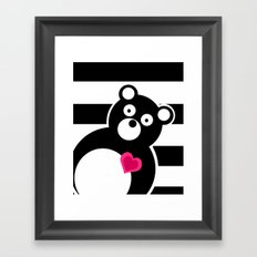 Curiosity killed the Bear Framed Art Print
