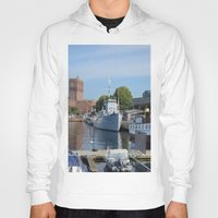 oslo Hoodies featuring Minesweeper Alta In Oslo by Malcolm Snook