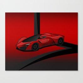 Red racing super car Canvas Print