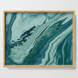 Blue Planet Marble Serving Tray