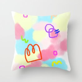 Pastel Tie Dye - Life Is A Circus no.4 - abstract pattern Throw Pillow