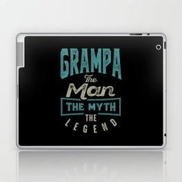 Grampa The Myth The Legend Laptop & iPad Skin
