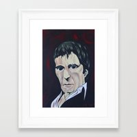scarface Framed Art Prints featuring scarface by kingtattoo