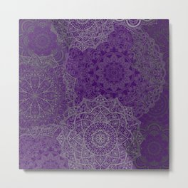 Purple Mandalas Metal Print