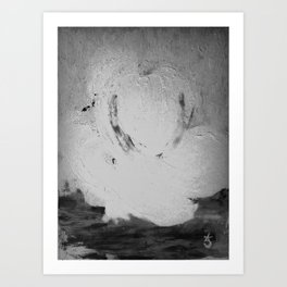 Abstract in Nature Shadows Art Print