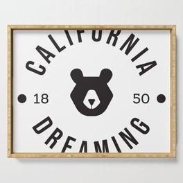 California Dreaming Minimalist Bear Serving Tray