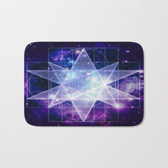 Purple Galaxy Sacred Geometry : Stellated Icoshadron Bath Mat
