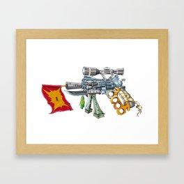 The Overcomensator Framed Art Print
